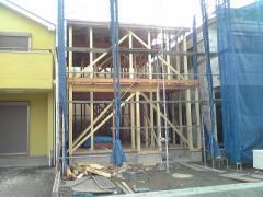 棟上げ後の我が家
