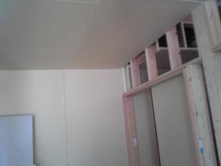 内壁が貼られてました