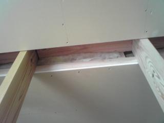 2階天井にも断熱材