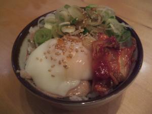 満帆・賄飯(ミニ中トロチャーシュー丼)