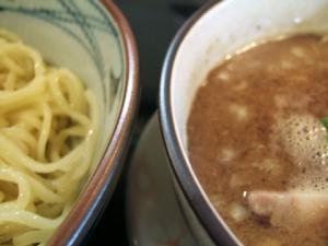 麺堂 稲葉@古河・つけ、麺スープ、アップ