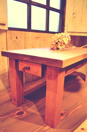 小引き出し付きローテーブル (3)