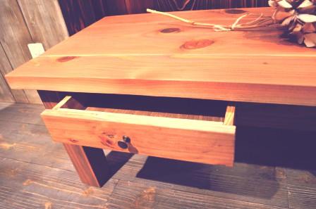 小引き出し付きローテーブル (2)