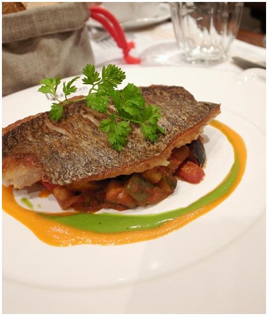 白身魚とラタトゥユ