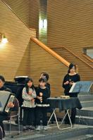 ブラスメンバーの子どもたちも打楽器で参加