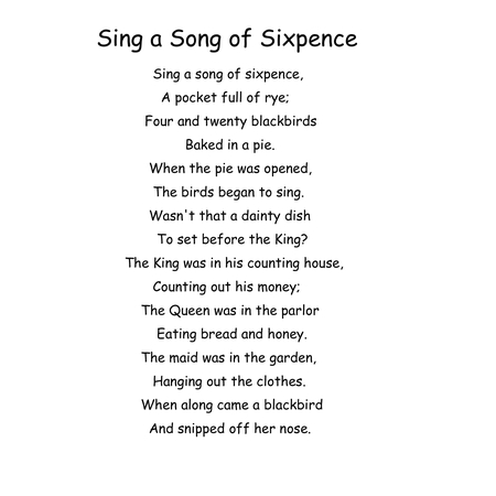 Sing a song of sixpence[1]