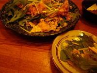 夕食ゆばサラダ