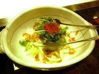 夕飯白菜サラダ