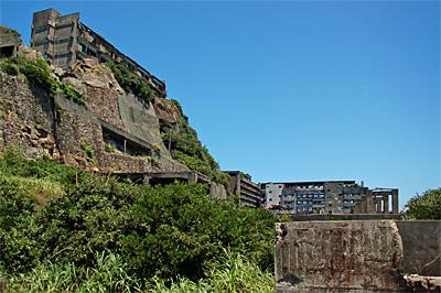 端島、鉱業所側09
