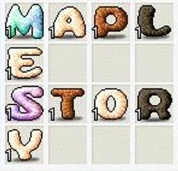 MAPLESTORY アルファベット集め