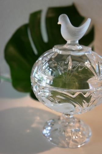 小鳥のガラス器