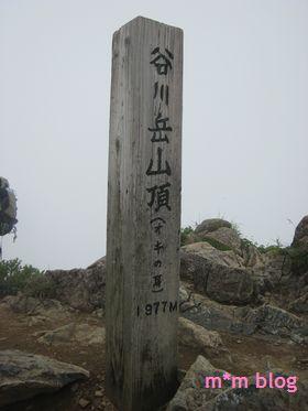 谷川岳山頂