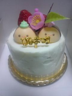 080303_お土産のひな祭りケーキ