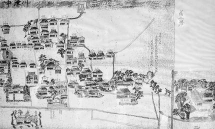 塚本村絵図