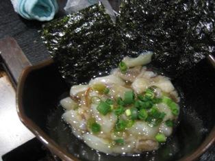 韓国海苔とタコわさび