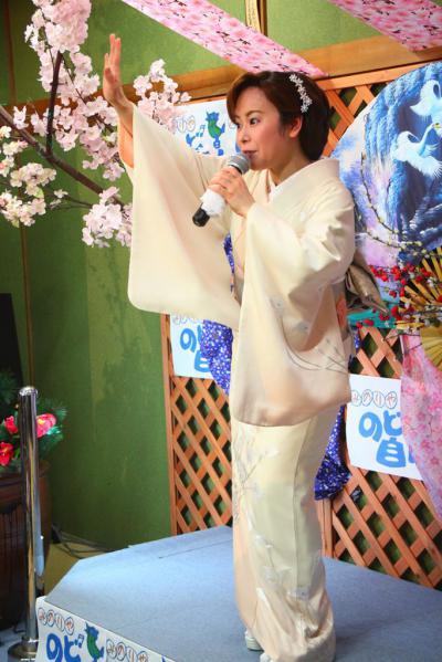 56 第02回元気わくわくみのり~や のど自慢カラオケ 葵かを里新曲「桂川」 発表コンサート