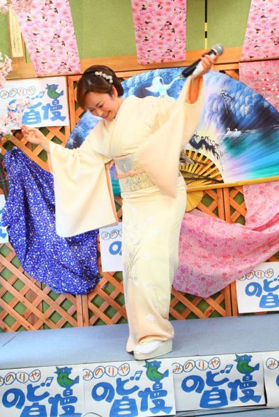57 第02回元気わくわくみのり~や のど自慢カラオケ 葵かを里新曲「桂川」 発表コンサート