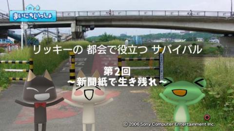 torosute2009/10/27 新聞紙サバイバル