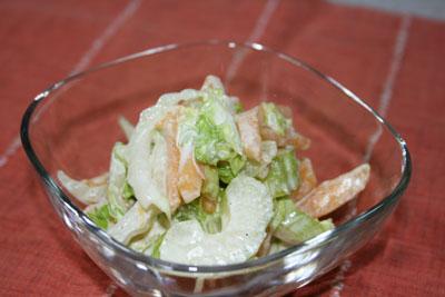 091106セロリと白菜と柿のマヨサラダ