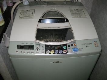 洗濯機が新品同様になりました