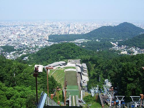 大倉山 ジャンプ台 スタート地点 大通公園