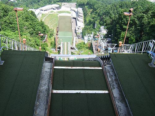 大倉山 ジャンプ台 スタート地点 眺望