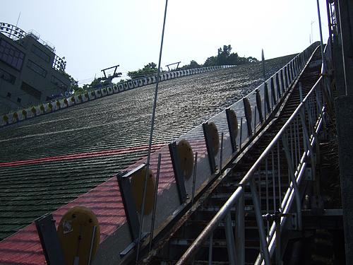 大倉山 ジャンプ台 観客席 着地地点