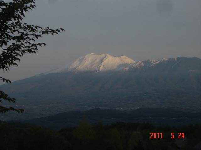 季節外れの浅間山