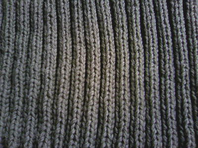 2目ゴム編みのジャケット2