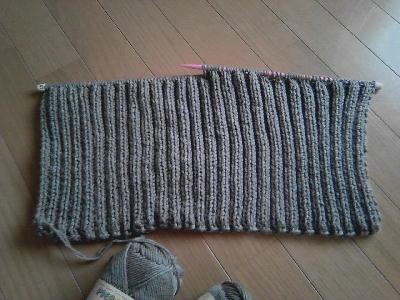 ゴム編みのジャケット1