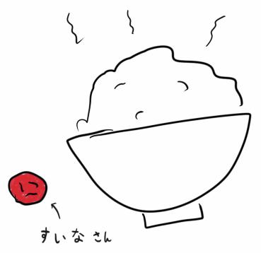 梅干と御飯