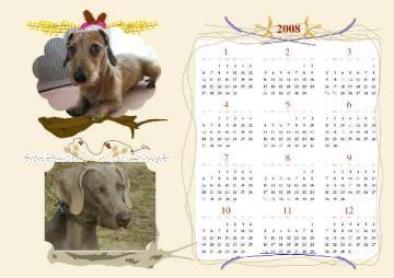 12ヶ月カレンダー アキ&シル1
