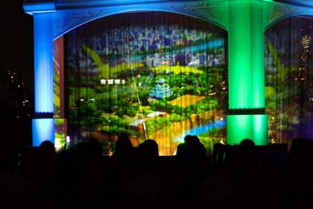 ナイトプログラム「水の回廊 時空の架け橋」