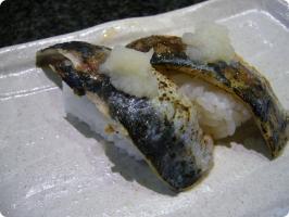 魚がし鮨 流れ鮨 炙り鰯