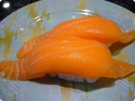 魚がし鮨 流れ鮨 サーモン