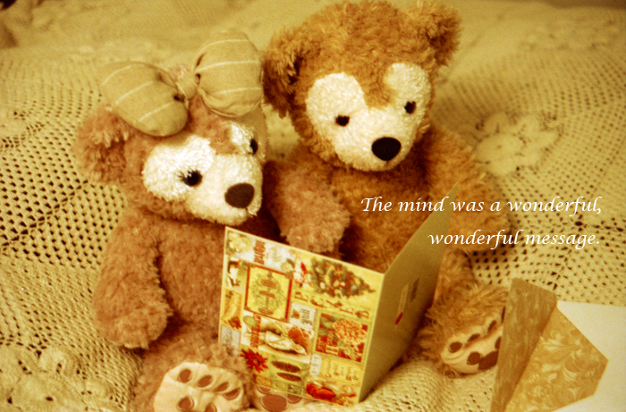 The mind was a wonderful, wonderful message.