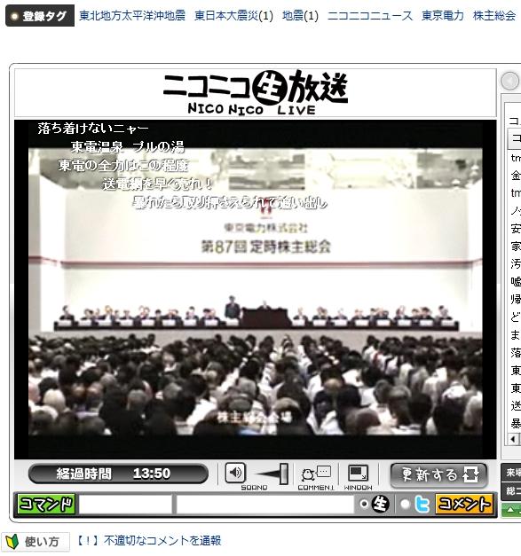 東京電力 第87回定時株主総会