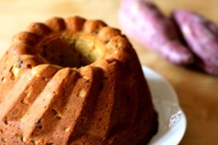 091102 さつまいもとラムレーズンのケーキ