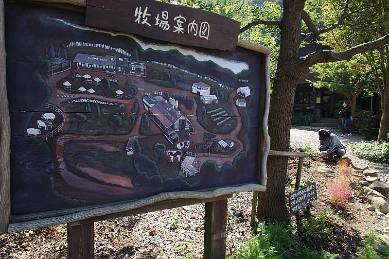 弓削牧場の案内図
