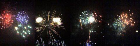ケータイで撮った花火