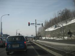 旭川新道はすっかりアスファルトが出ています