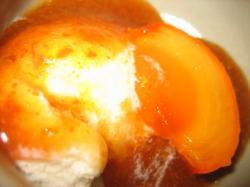 柿ソースのアイスクリーム