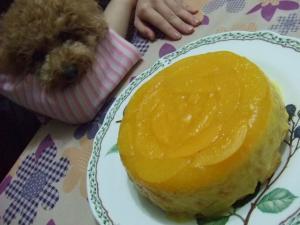 黄桃のムース