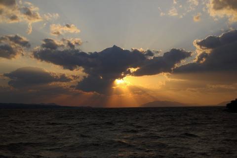 宍道湖夕日1