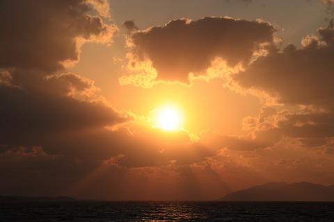 宍道湖夕日2