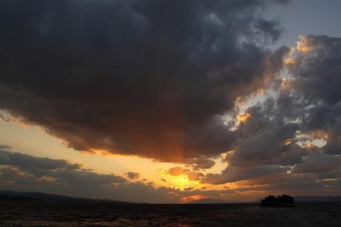 宍道湖夕日5