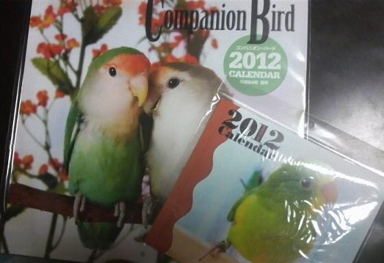 2012年の鳥ちゃんカレンダー