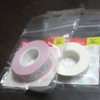 キキララのマスキングテープ