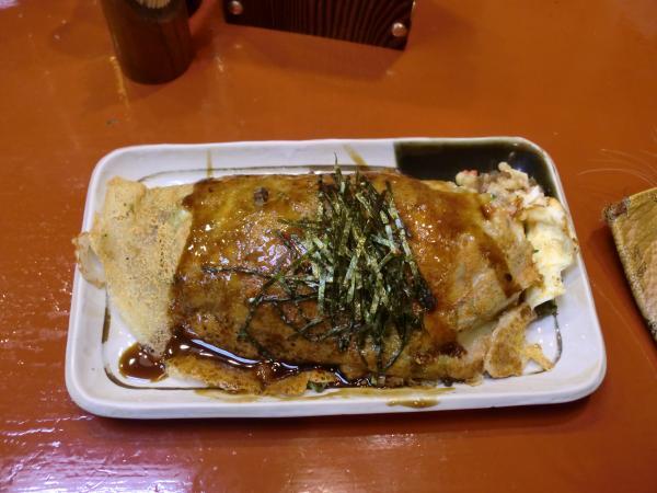 カウチサーフィン(祇園のお好み焼き)