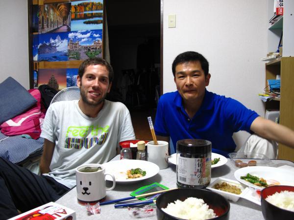 カウチサーフィン(チリ)、マーティンと私、我が家にて。